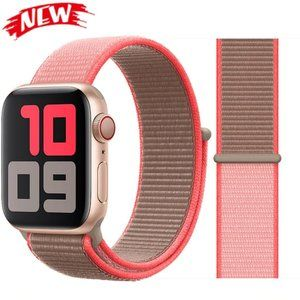 *❤️NEW Neon Pink Sport Loop Strap For Apple Watch